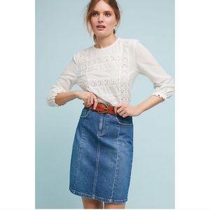 Anthropologie Pilcro Denim A-line Skirt